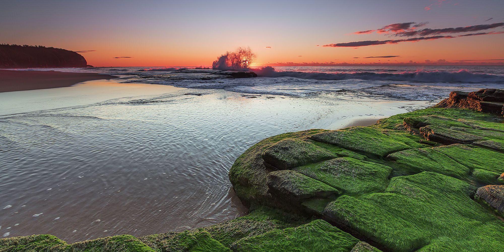 turimetta beach at sunrise